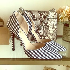 Gingham Pointed Heel